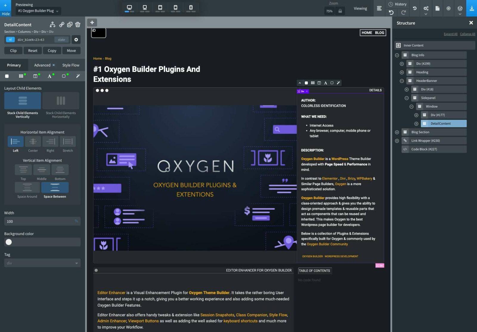 Oxygen Builder Plugin Screenshot Editor Enhancer